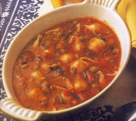 Minestrone avec coquilles
